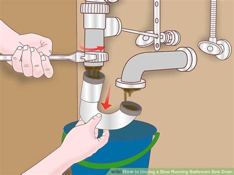 how to plumb kitchen sink drain with disposal simple ways to unclog a bathroom sink wikihow 9814
