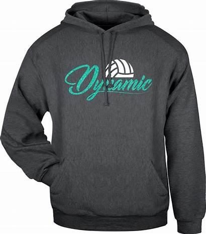 Sweatshirt Volleyball Hooded Dynamic Fleece Adult