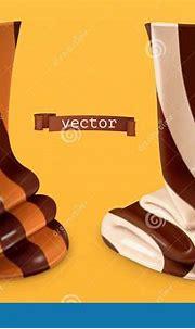 Chocolate Swirl, Duo Spread. 3d Vector Realistic Icon ...