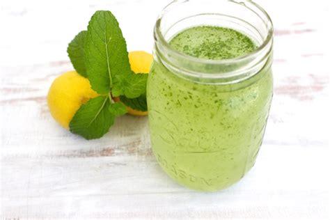lemon mint spritzer  fit foodie