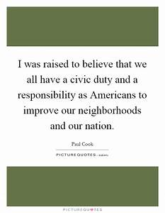 Civic Duty Quot... Civic Responsibility Quotes