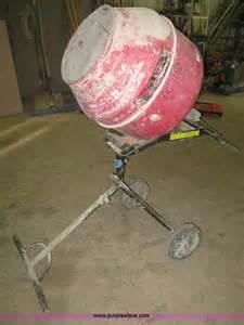 husky electric concrete mixer  reserve auction