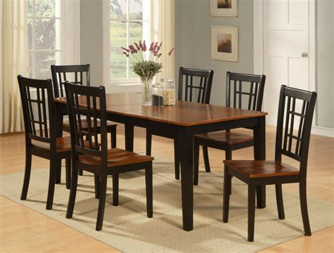 pc dinette kitchen dining table   wood seat chairs