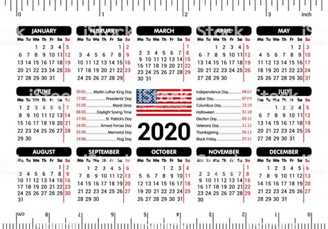calendar usa flag holidays ruler starting monday vector