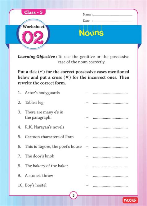 51 english grammar worksheets class 5 instant