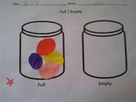 Fullempty Worksheet  Preschool Crafts & Activities  Pinterest Worksheets