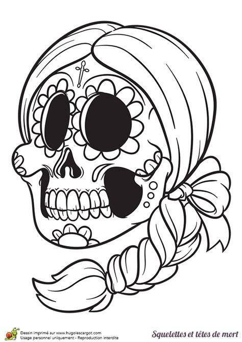 jeux gratuit de fille cuisine coloriage d une tête de mort du mexique hugolescargot com