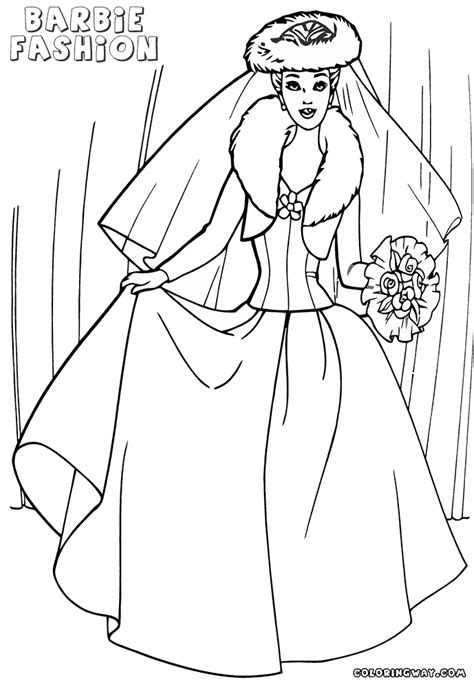 barbie fashion coloring pages coloring pages    print
