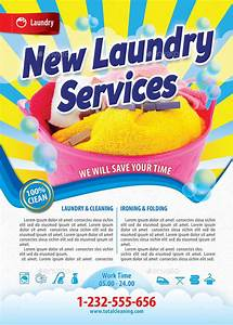 New laundry services flyer template 116 by 21min for Laundry flyers templates