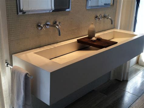 wall mounted trough sink trough sinks for efficient bathroom and kitchen ideas