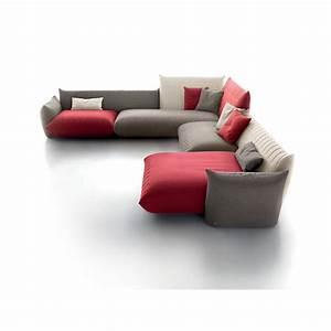canape d39angle design avec chaise longue sonora tissu With tapis de course avec canapé d angle italien tissu