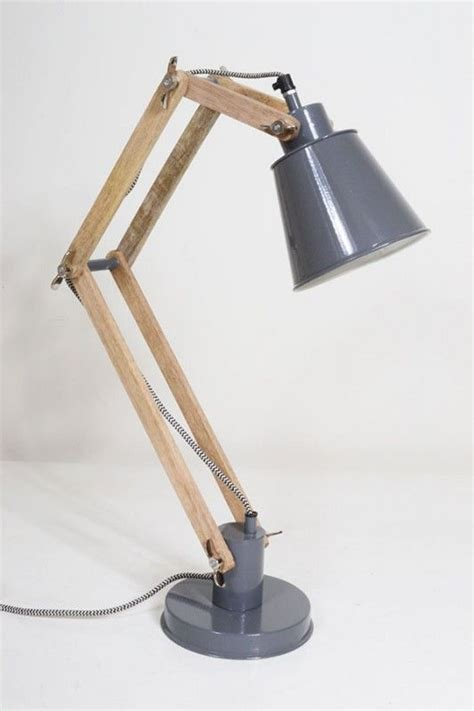 arm timber wood desk lamp lamps lighting ideas