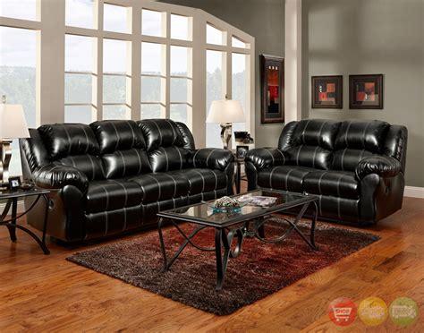 Black Leather Living Room Furniture Sets Home Design