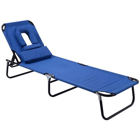 patio foldable chaise lounge chair bed outdoor