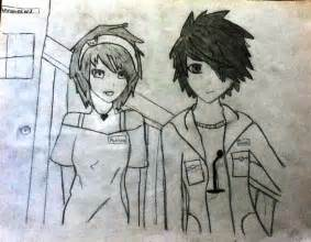 Anime Boy and Girl Friendship Drawing