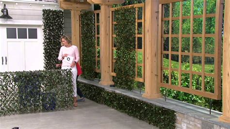 compass home expandable faux ivy privacy fence with lights compass home expandable faux ivy privacy fence with lights