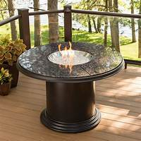 fire pit dining table Grand Colonial Dining Gas Fire Pit Table - GC-48-DIN-K