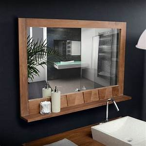 20 best images about mirrrors on pinterest mirror with With miroir salle de bain tablette bois