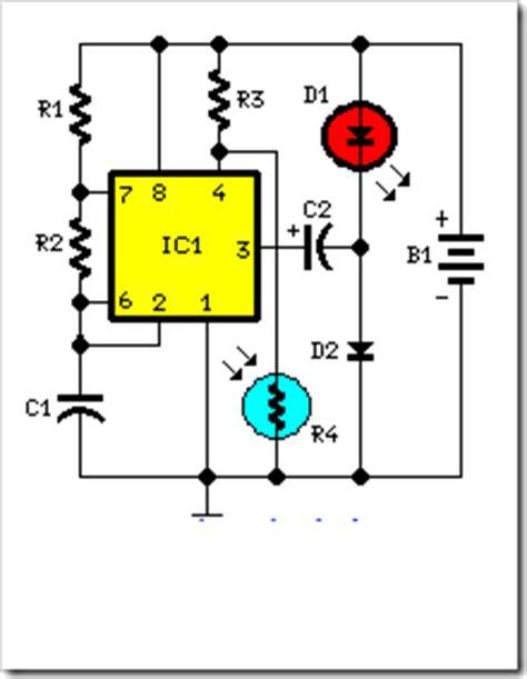 Battery Powered Night Lamp Circuit Electronic Circuits