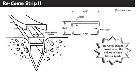 stegmeier  cover strip ii pool deck expansion joint repair