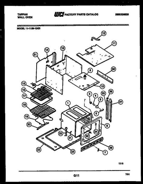 tappan gas oven thermostat wiring diagram