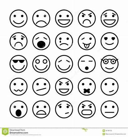 Smiley Faces Elements Website Illustration Vector Emotion