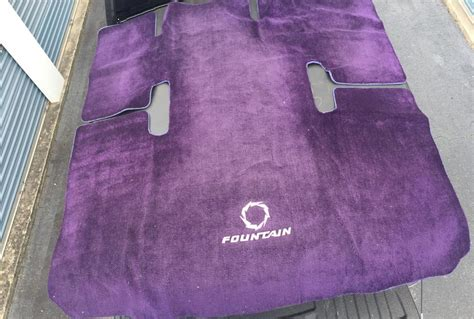 Fountain Boats Factory Location by Fountain 38 Fever Cockpit Factory Carpet Purple