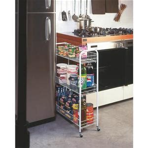 metaltex slim rolling cart  tier white lowes canada