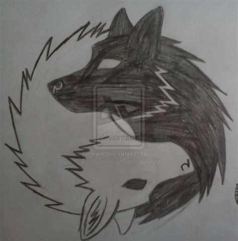 yin  wolves tattoos pinterest wolves good