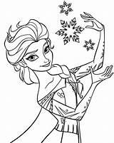 Coloring Elsa Printable sketch template