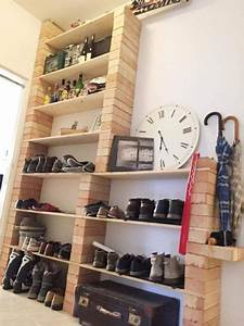Schuhregal Selber Machen : ziemlich cooles schuhregal aus backsteinen und brettern diy schuhregal selbstgemacht ~ Watch28wear.com Haus und Dekorationen