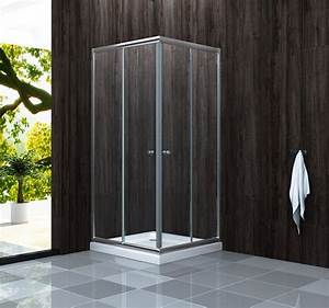 Duschkabine Mit Duschtasse : duschkabine st 01 90 x 90 x 195 cm inkl duschtasse alphabad ~ Frokenaadalensverden.com Haus und Dekorationen