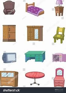 Cartoon Furniture Icon Stock Vector Illustration 67792480 ...