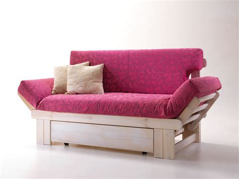Rustic Sofa Bed, Wooden, With Container