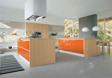 orange kitchen island cuisine orange 50 id 233 es d am 233 nagement stimulantes 1219
