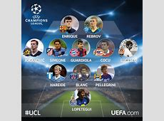 Champions League coaches when they were players UEFA