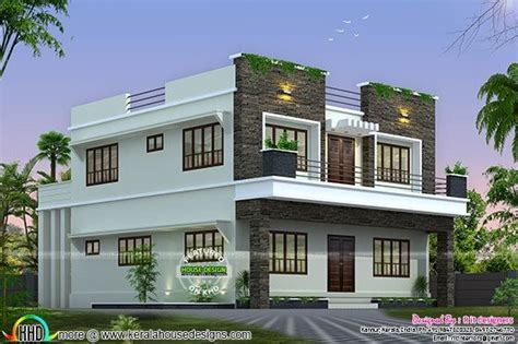 how to design a new house front side and back view of box model home kerala home design bloglovin