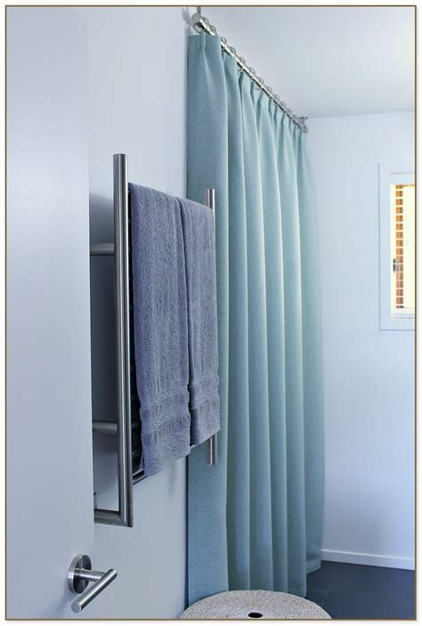 ceiling mounted shower curtain ceiling track shower