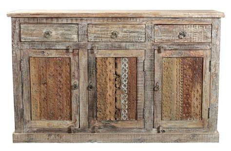Indian Wood Sideboard reclaimed indian wood sideboard with carved panel doors