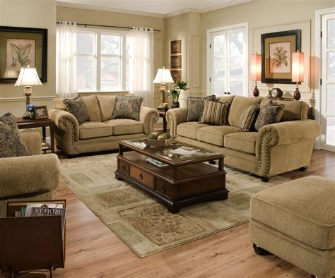 simmons upholstery  stationary living room group