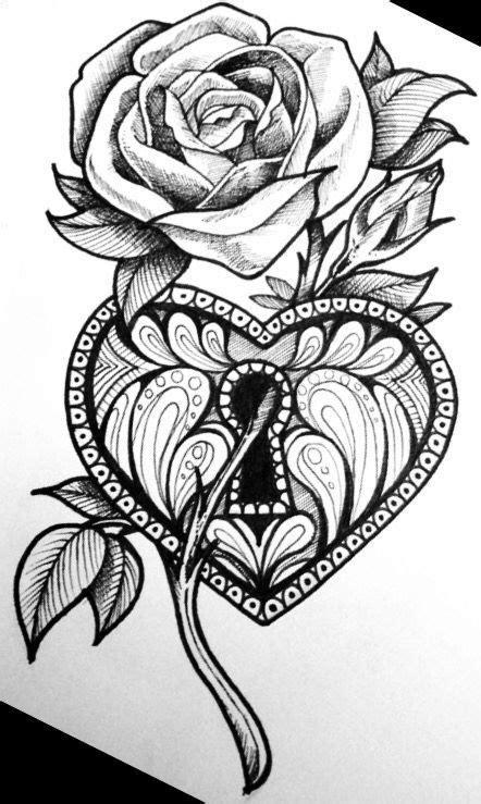 Flower | Rose drawing tattoo, Tattoo design drawings, Body