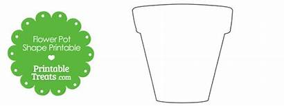 Pot Flower Printable Template Shape Plant Outline