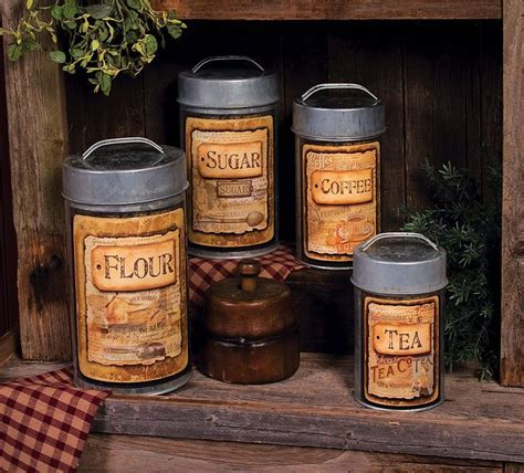 The Olde Mill Canisters   Kitchen canister sets, Kitchen