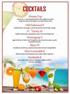 fruits cocktail menu template printable templates With drink menu templates microsoft word