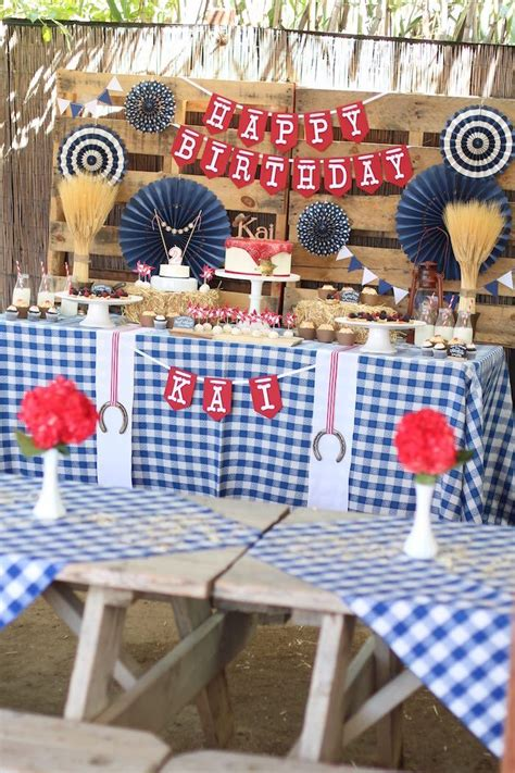 Cowboy Western Birthday Party Via Kara's Party Ideas