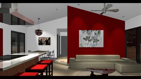 red accent wall red accent wall living room design youtube