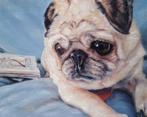 Pet Portrait Oil Paintings By Darlene Pucillo Dog Milk