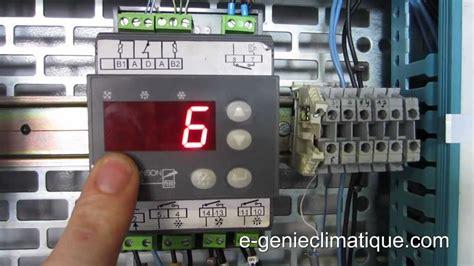 froid83 régulateur mr4 fonctionnement et paramétrages