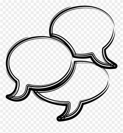 Conversation Speech Bubbles Clip Clipart Pinclipart