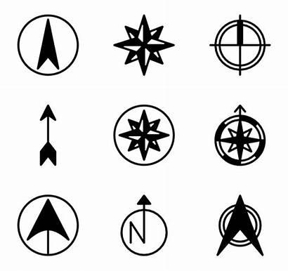 North Icon Symbol Point Transparent Map Compass